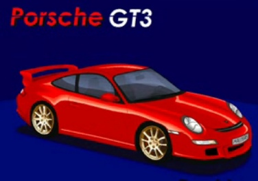 Porsche GT3 RS in MS Paint