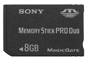 8GB Memory Stick PRO Duo, MSX-M8GS