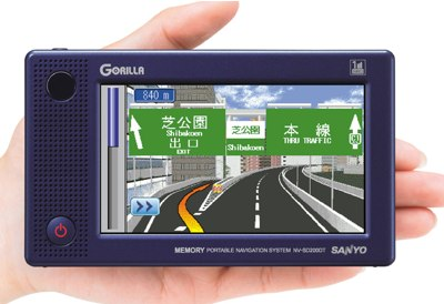 Sanyo Gorilla NV-SD200DT, NV-SB250DT GPS Devices