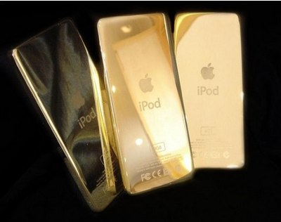 Apple iPod in 24 Carat Gold