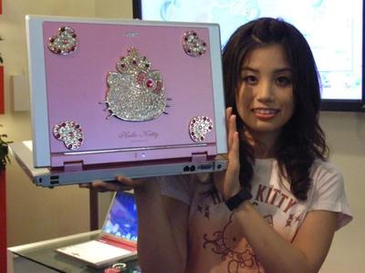 NEC Lavie G Hello Kitty laptop