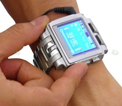 Thanko MP4 Metal Watch PMP