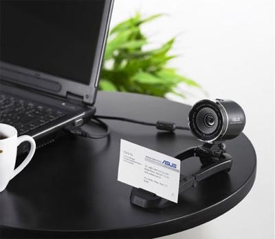 Asus AF-200 and MF-200 Webcams read Biz Cards