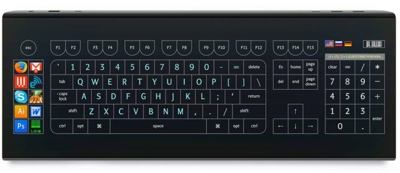 Optimus Tactus keyboard concept
