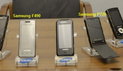 Samsung F490 and P720 Mobile Phones