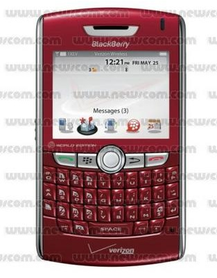 Red BlackBerry 8830