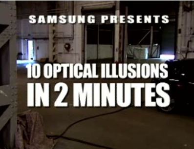 "Samsung's ""10 Optical Illusions in 2 Minutes"" Video promotes Soul"