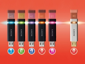 Sony MicroVault Click and Click Excellence Flash Drive