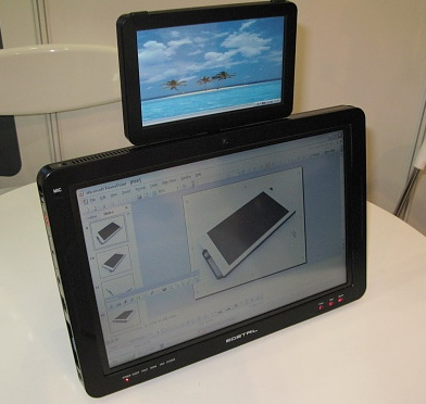 e-Detail Prezenter PSR Tablet PC has two screens