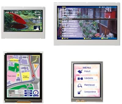 NEC Tiny QHD LCD Modules
