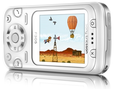 Sony Ericsson F305 with Motion Gaming