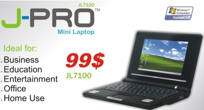Jointech J-Pro JL7100 $99 Mini Laptop