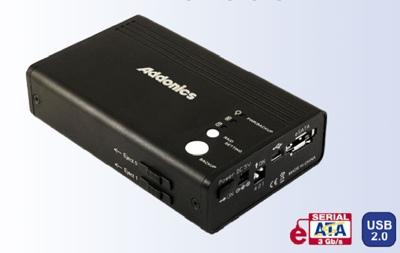 Addonics Portable Dual Drive RAID enclosure