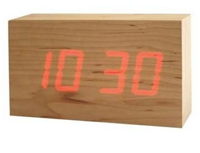 TO:CA Wood LED clocks
