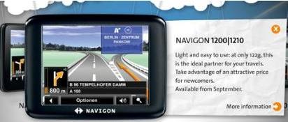 Navigon 1200 and 1210 GPS Devices