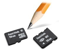 SanDisk 16GB microSDHC and Memory Stick Micro
