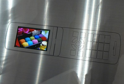 KDDI 3.1-inch WVGA OLED Panel