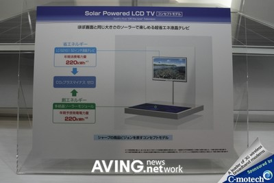 Sharp 52-inch solar-powered LCD TV