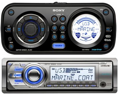 Sony CDX-H910UI and CDX-M60UI Marine Head Units