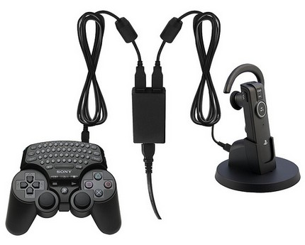 PS3 Bluetooth Wireless Keypad and Dual USB AC Adaptor