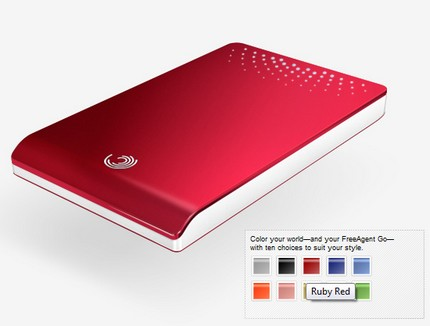 Seagate FreeAgent Go Portable HDD in 10 Colors