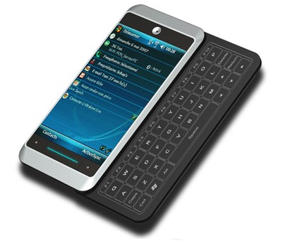 Skinny QWERTY Slider Phone concept