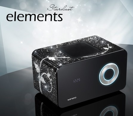 Sonoro Elements Stardust MP3 Clock Radio with Swarovski Crystals