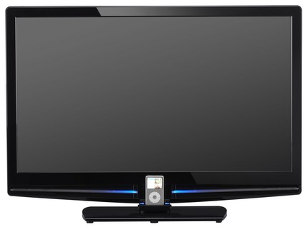 JVC TeleDock P300 and P500 series LCD HDTVs with integrated iPod dock