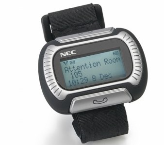 NEC M155 Messenger Watch Phone for healthcare and hospitality