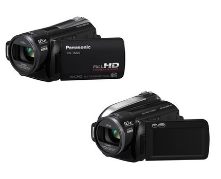 Panasonic HDC-HS20, HDC-TM20 and HDC-SD20 HD camcorders