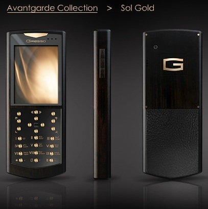 Gresso Avantgarde Sol Gold luxury phone