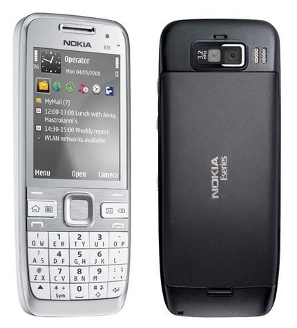 Nokia E55 Semi-QWERTY Candybar phone