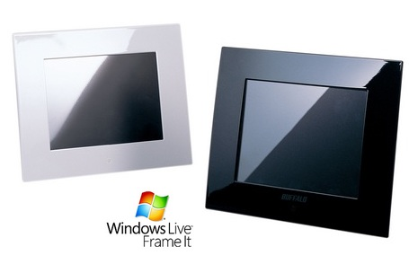 Buffalo PF-50WG Digiframe supports Windows Live FrameIt