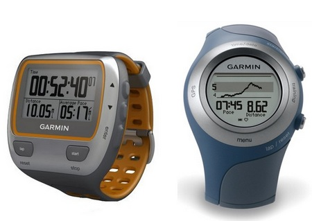 Garmin Forerunner 405CX and 310XT GPS-enabled fitness devices