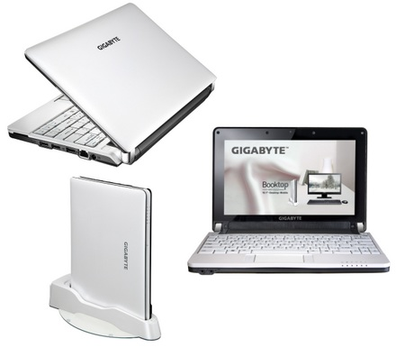 Gigabyte Booktop M1022 Netbook with HSDPA and WiMAX options