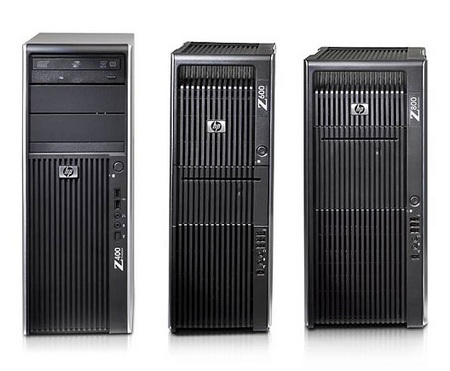 HP Z Workstation series powered by Xeon