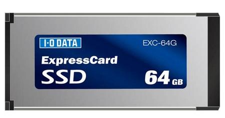 IO-DATA ExpressCard SSDs