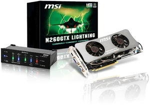 "MSI N260GTX Lightning ""Military Class"" Graphics Card"
