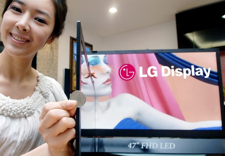 LG shows 5.9mm World's Thinnest LCD TV Panel