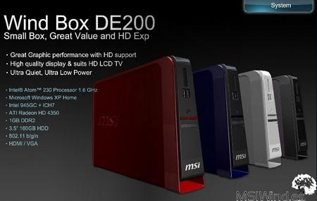 MSI Wind Box DE200 Nettop gets Radeon HD4350