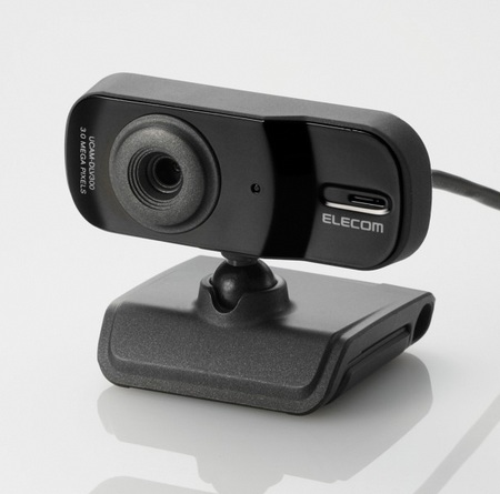Elecom UCAM-DLV300T 3 megapixel webcam black