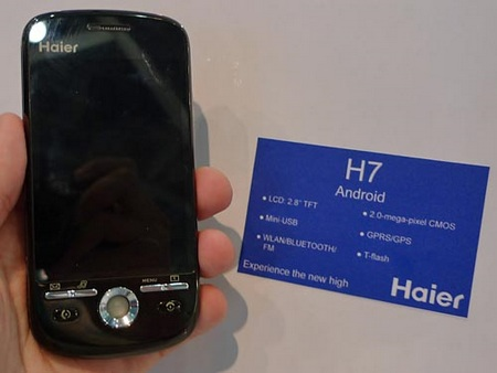 Haier H7 Android Phone coming in September