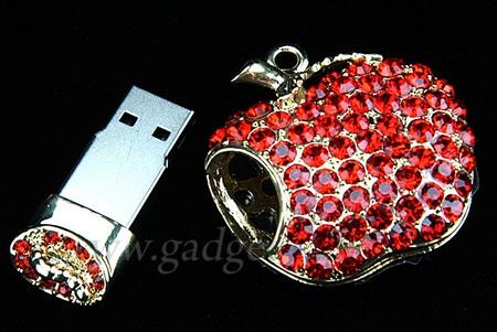 Jewel Apple Necklace USB Drive 2