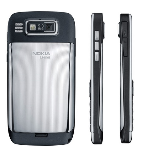 Nokia E72 QWERTY Smartphone back and side