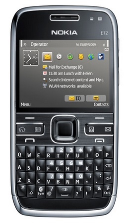 Nokia E72 QWERTY Smartphone front