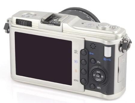 Olympus E-P1 PEN Digital Compact DSLR back angle