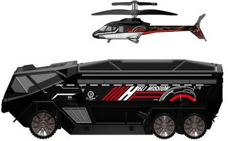 Silverlit Heli-Mission SWAT Truck RC Car with an RC Helicopter 1