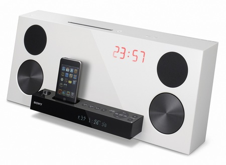 Sony CMT-Z100DiR ipod audio system white