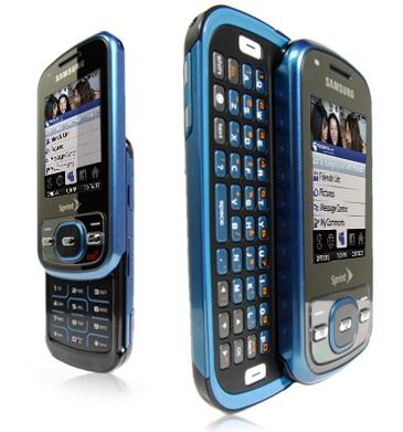 Sprint Samsung Exclaim dual sliding QWERTY phone dual slide