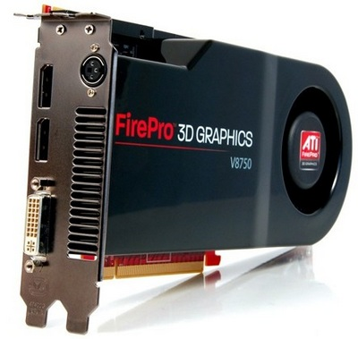 ATI FirePro V8750 3D Workstation Graphics Card